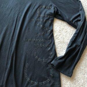 Calvin Klein Long Sleeve Tee with Bling Logo XL